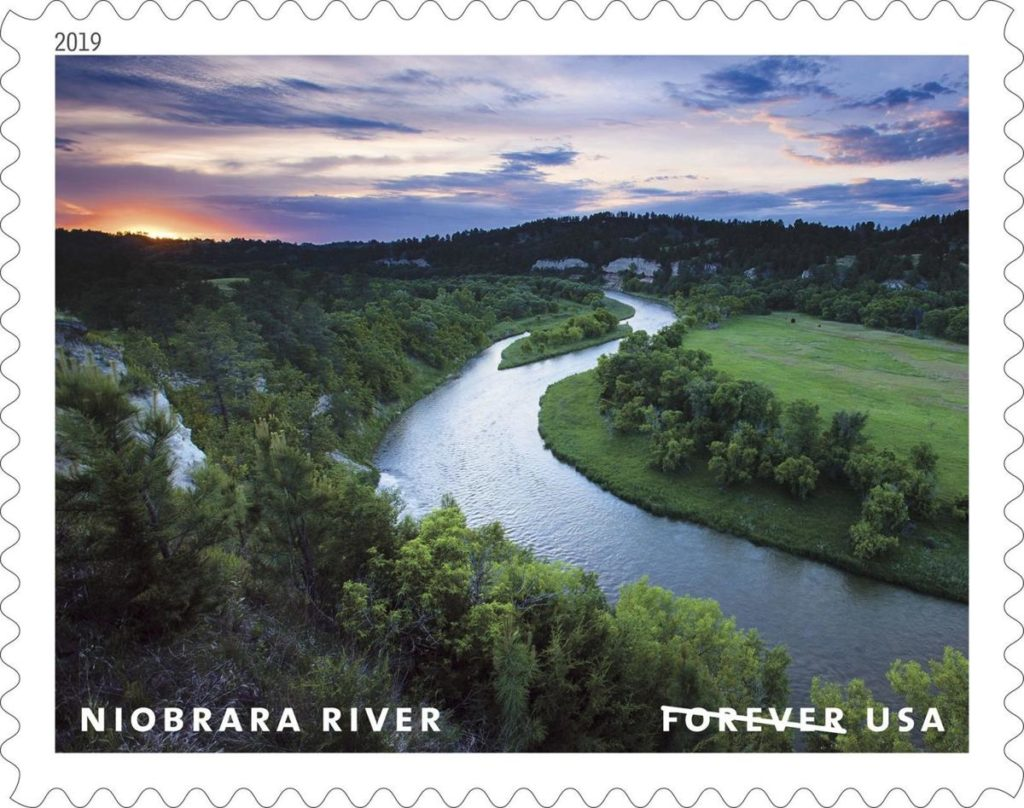 Stamp featuring Niobrara River goes on sale today
