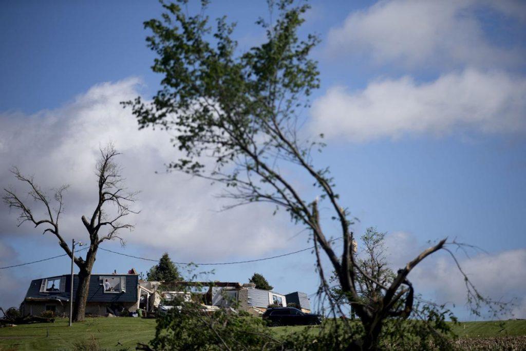 74-year-old woman killed as rare overnight tornado sweeps through Iowa