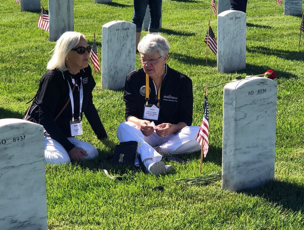 A time for honor and healing: Purple Heart veterans, Gold Star family members visit Washington