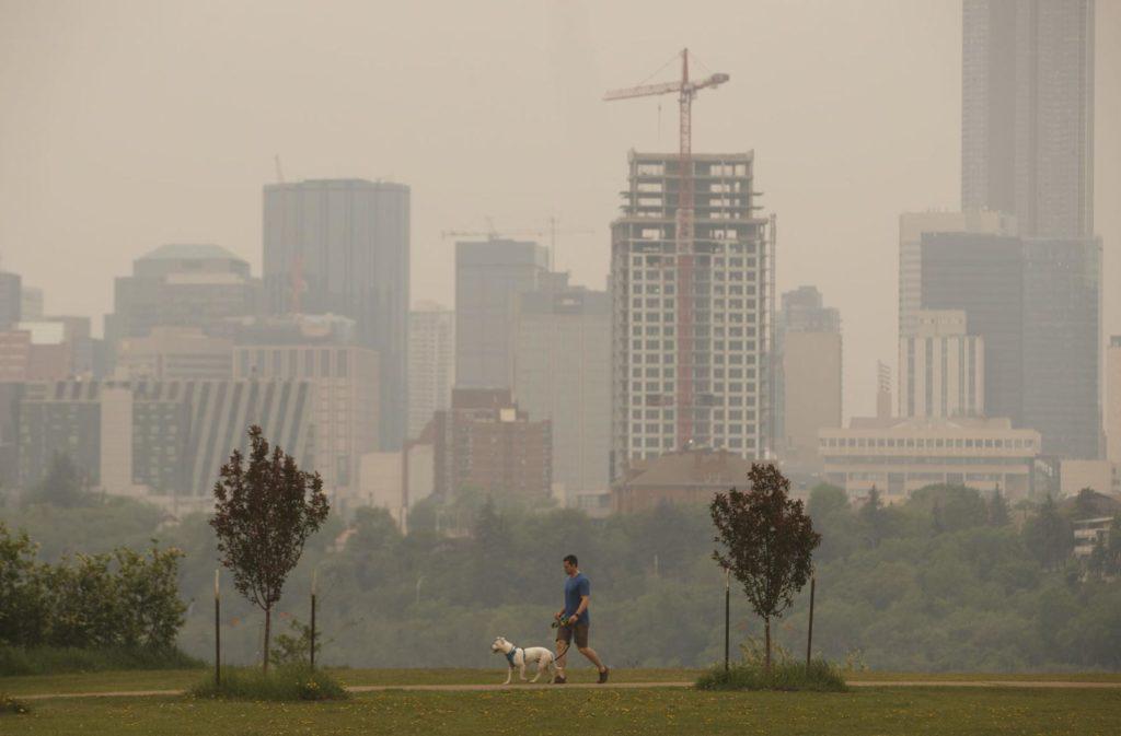 Smoke from wildfires in Canada brings hazy skies