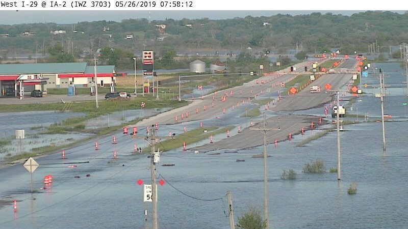 High water forces closure of Highway 2 near Nebraska City