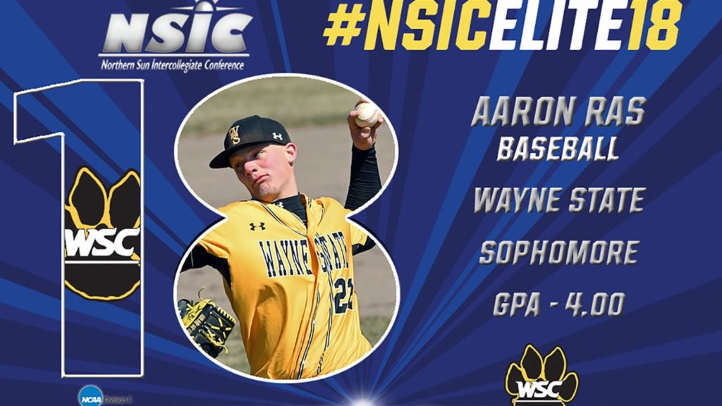 Wildcat Baseball Pitcher Recognized With NSIC Elite 18 Award