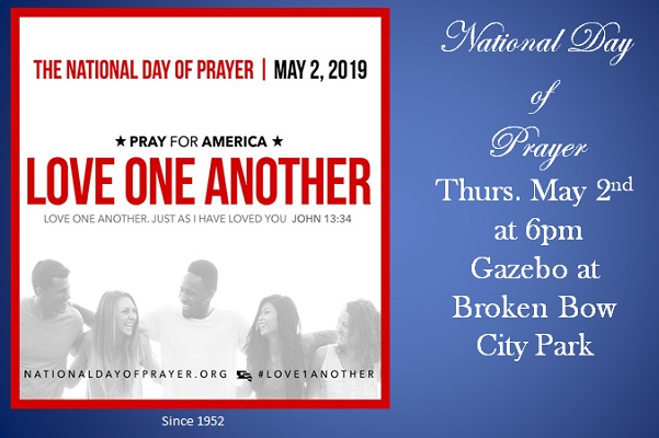 National Day of Prayer May 2—Community Observance 6PM in Broken Bow