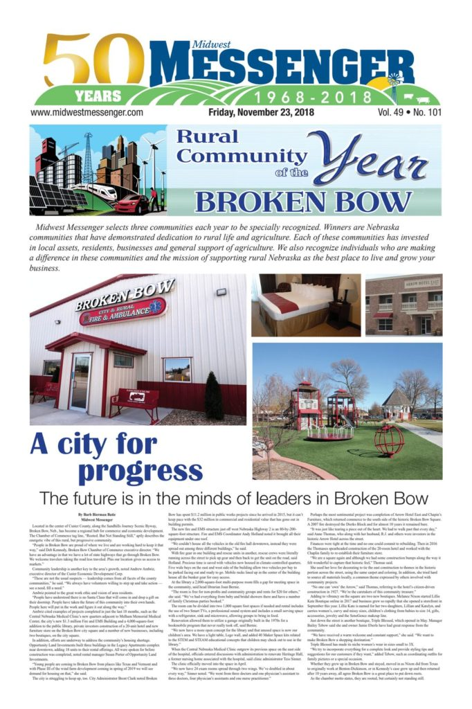 Broken Bow Named Rural Community of the Year by Midwest Messenger