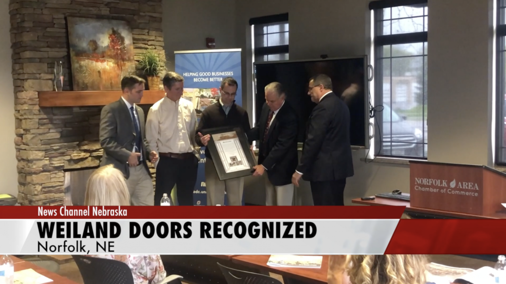 Norfolk Chamber of Commerce Honors Weiland Inc.