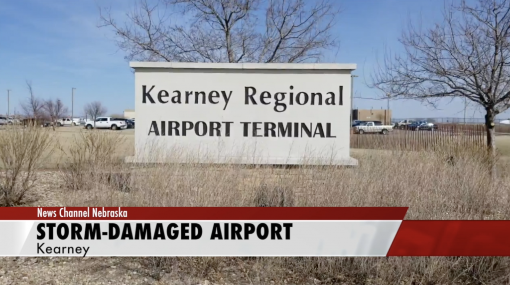 United Express flights at Kearney Regional Airport cancelled until further notice after storm damages FAA equipment
