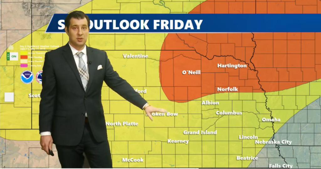 Severe weather heading towards Northeast and Eastern Nebraska
