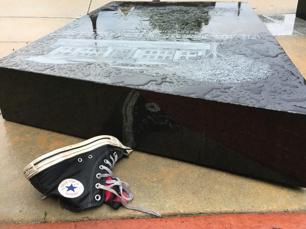 Girl's Foot Injured Beneath Toppled Granite Panel