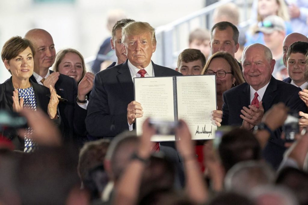 'A promise has been kept': Trump is cheered in Council Bluffs after lifting ethanol ban