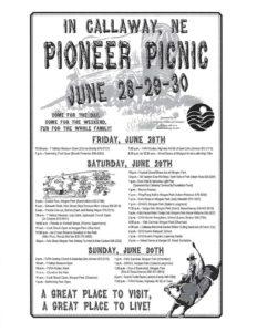 Callaway Pioneer Picnic this Weekend!