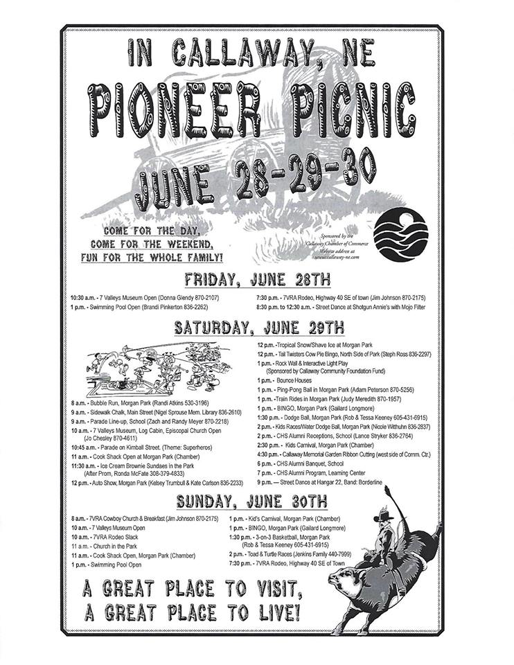 Callaway Pioneer Picnic this Weekend!