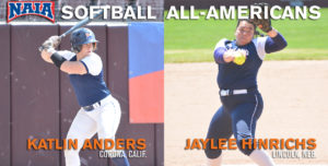 Midland's Hinrichs and Anders Named NAIA All-Americans
