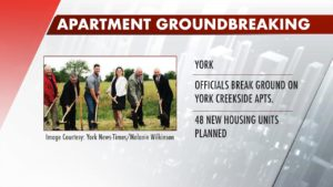 New housing project construction in York officially underway