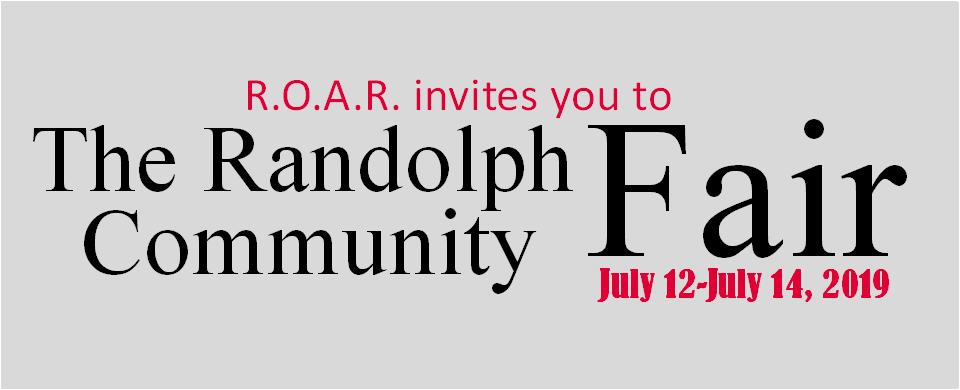 Randolph Community Fair Happening This Weekend