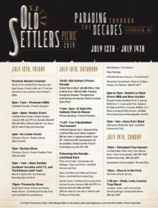 Old Settlers Picnic in Litchfield July 12-14