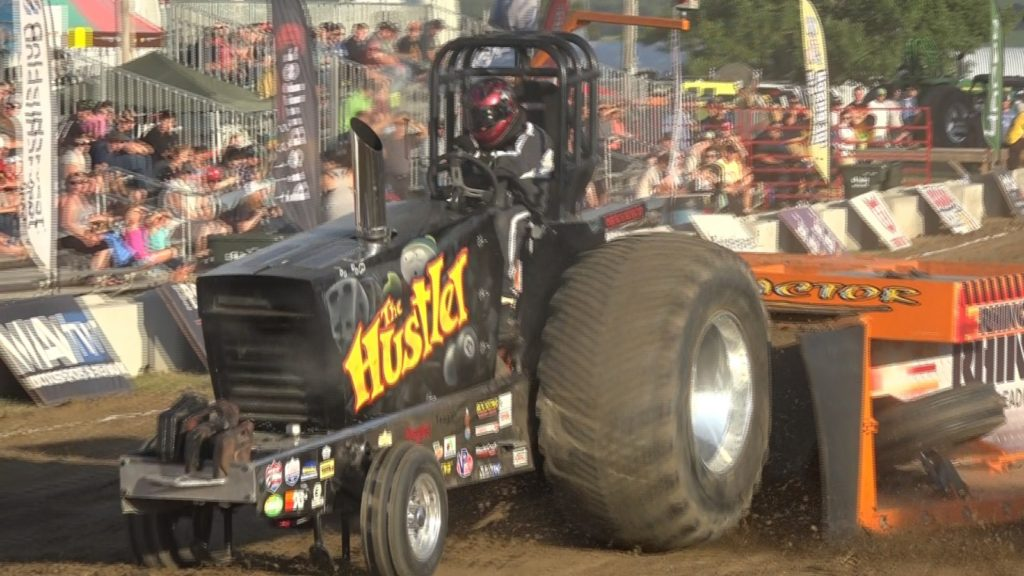Smoke Filled The Air During County Fair Tractor Pull