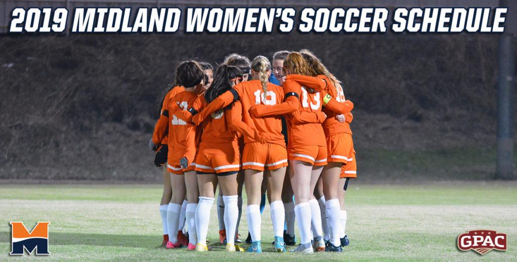2019 Midland Women's Soccer Schedule Released