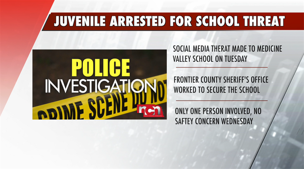 Juvenile arrested for making terroristic threats toward school