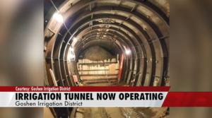 Water restored to Wyoming, Nebraska irrigation tunnel system