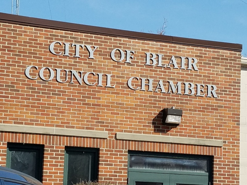 Public Hearings on Central Business District, Contract Yard at Former Grocery Site before the Blair Planning Commission