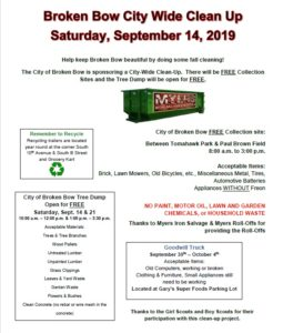Broken Bow City-Wide Cleanup Tomorrow September 14