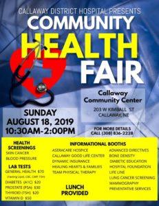 Callaway Community Health Fair this Sunday