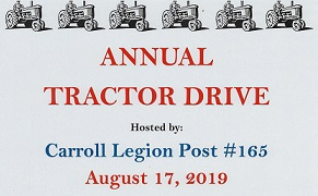 Carroll Legion Post 165 Annual Tractor Drive And Pig Roast Happening This Saturday
