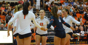 No. 8 Lady Warriors Open Season with Top Ten Battle Against No. 3 Grand View, Fall in Four Sets