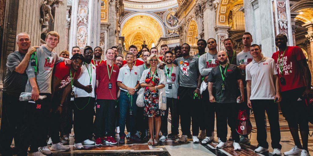 Nebraska Men's Basketball Team Remains Unbeaten in Italy
