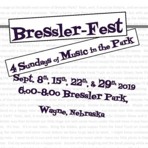 Third Annual Bressler-Fest To Kickoff Sunday