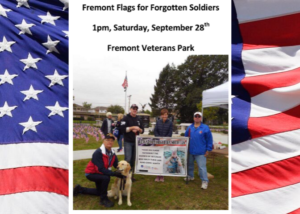 Flags for Forgotten Soldiers Will Return to Fremont's Veterans Park
