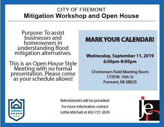 City of Fremont to Host Flood Mitigation Workshop