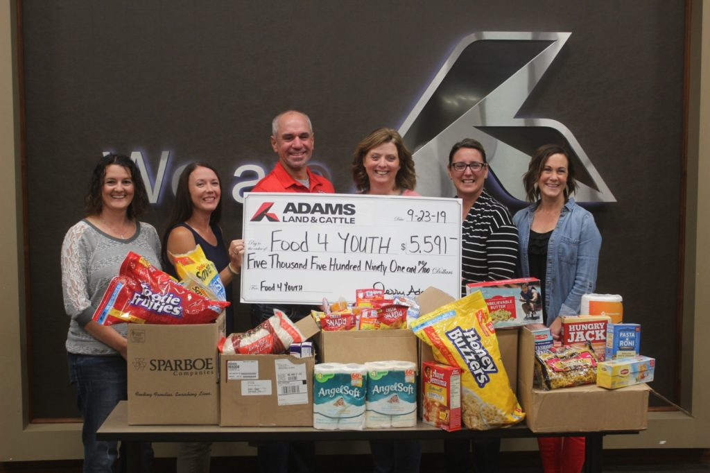 Adams Land & Cattle Food 4 Youth Campaign Raises Over $7,000 And Collects 2,700 Items