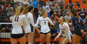 No. 9 Lady Warriors Douse No. 25 Flames in Straight Sets