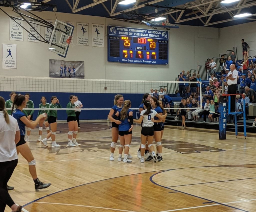 WHS Volleyball Wins In Four Over Scotus