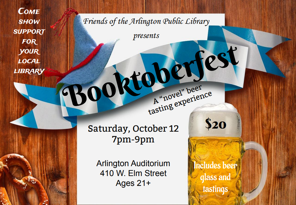 Friends of the Arlington Library to Host Booktoberfest Saturday