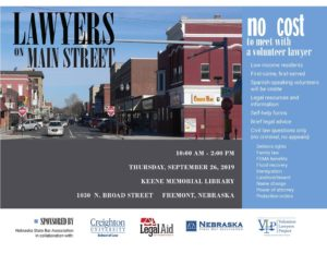 Lawyers on Main Street Program to Answer Civil Law Questions for Low Income Residents