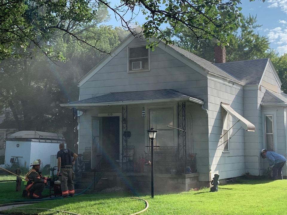 Fremont Fire Department Fights Fire Near 4th & Logan