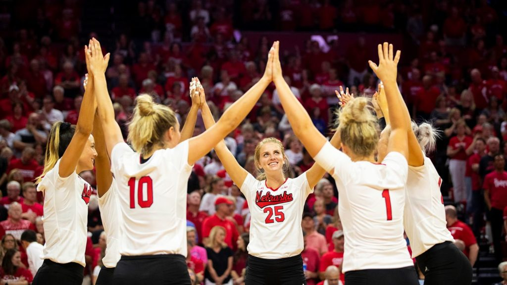Huskers Open NCAA Volleyball Tournament Against Ball State