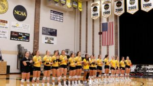 Wayne State Volleyball Splits Road NSIC Weekend Games