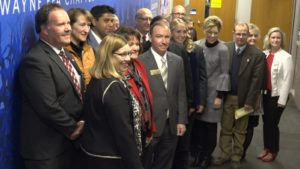 Wayne Community Schools Hosts Compact Signing Event With Six Other Educational Institutions