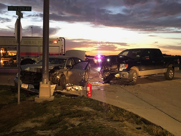 A Two-Vehicle Accident Tuesday Evening Results In Injuries