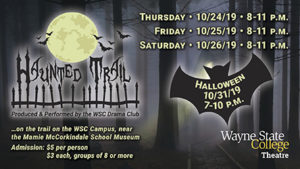 WSC Drama Club Haunted Trail Is Open October 24-26