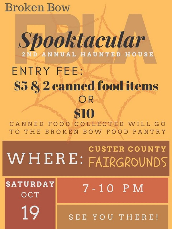 Broken Bow FBLA Spooktacular This Saturday At The Custer County Fairgrounds!