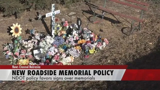 Nebraska DOT new roadside memorial policy favors state-made signs over personal memorials