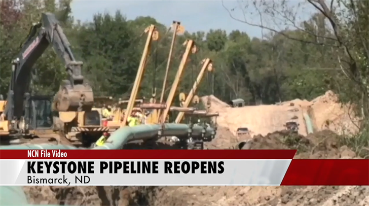 Keystone pipeline restarts 2 weeks after North Dakota leak