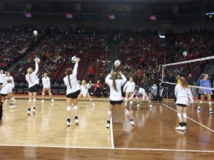 State Volleyball - Broken Bow Hands St. Paul First Set Loss of the Season but Fall 3-1 in C1 Semis