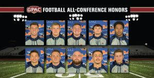 Ten Warriors Named to Football All-Conference Team