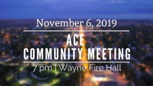 Ace Community Meeting Slated For Wednesday At 7 PM