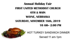 Annual Holiday Fair To Be Held At First United Methodist Church
